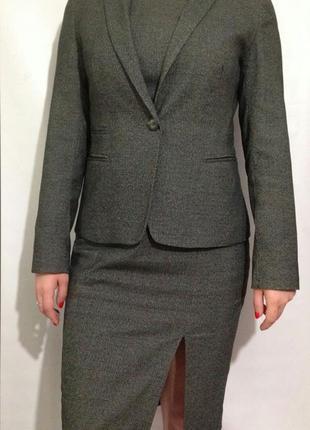 Стильный деловой костюм платье миди+пиджак от next