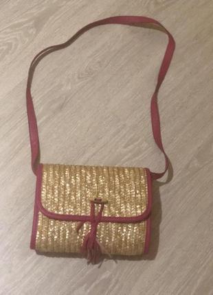 Плетеная сумочка,клатч