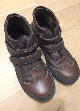 Кожаные прочные ботинки осень-весна на мальчика