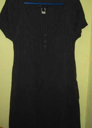 Теплое платье с короткими рукавами