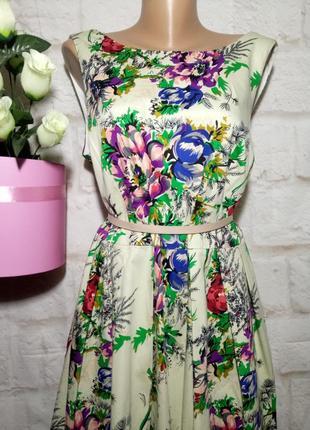 Платье миди коттоновое пышная юбка р 22 london2 фото