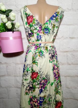 Платье миди коттоновое пышная юбка р 22 london4 фото
