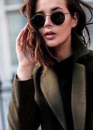 Новые крутые маленькие очки раунды, черные