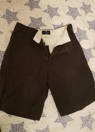 Классические мужские шорты тёмно-синего цвета добротные