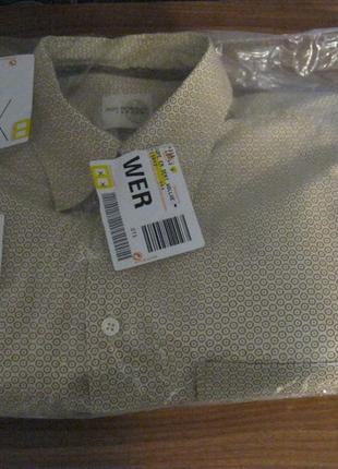 Мужская рубашка roy robson классического кроя с длинным рукавом новая