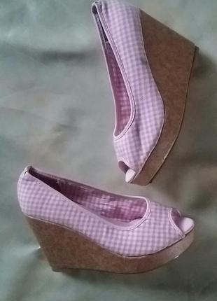 Женские летние туфли текстиль