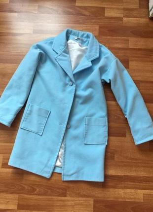 Кашемировое прямое демисезонное пальто плащ пиджак весна осень