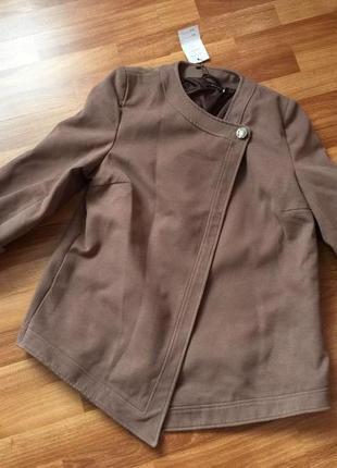 Короткое кашемировое демисезонное пальто укороченное весна осень куртка плащ