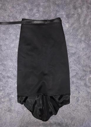Стильная/чёрная юбка сзади удлиненная castellani