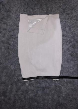 Стильная юбка серо голубая бренд 2.big aarhus