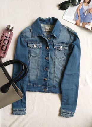 Коротка джинсова куртка + подарунок