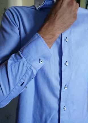 Zara man рубашка мужская классика стильная модная сурер качественная