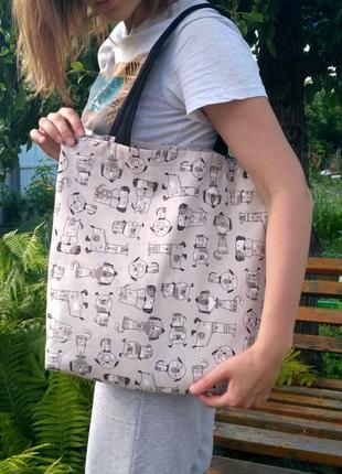 Эко - сумка ручной работы, шоппер, сумка для покупок