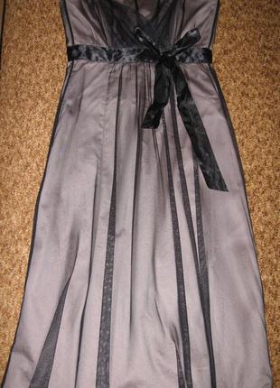 Коричневое платье warehouse вечернее выпускное корсет