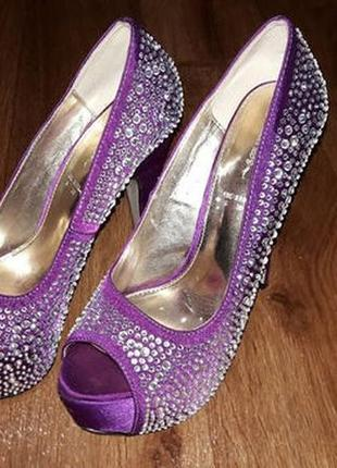 🌺👠🌺красивые женские туфли, стрипы в стразах на высоком каблуке teatre🔥🔥🔥