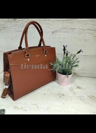 Офисная сумка (держит форму) от david jones cm5345 рыжая