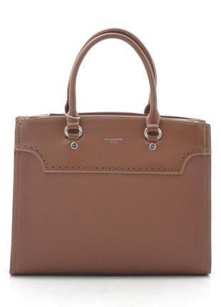 Офисная сумка (держит форму) от david jones cm5345 рыжая5 фото