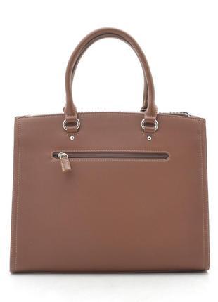 Офисная сумка (держит форму) от david jones cm5345 рыжая7 фото