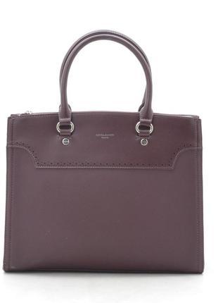 Офисная сумка (держит форму) от david jones cm5345 бордо (марсала)5 фото