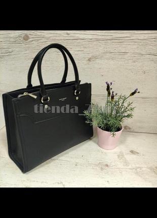 Офисная сумка (держит форму) от david jones cm5345 черная