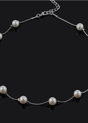 Ожерелье с жемчугом чокер украшение на шею бусы