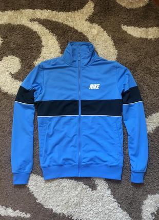 Синя кофта nike олімпійка на замку свитер зип худи