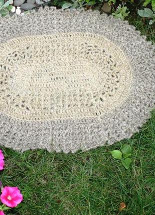 Льняной коврик