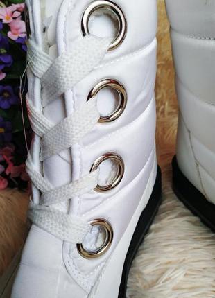 ♠️ зимние ботинки дутики, утепленные мехом ♠️5 фото