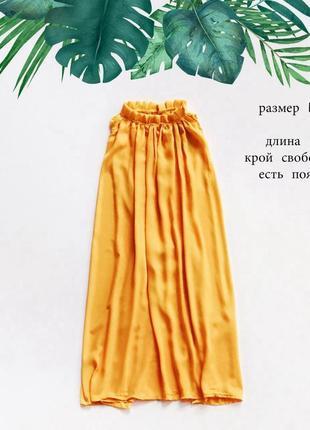 Стильный яркий желтый сарыфан свободного кроя размер l