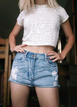 Крутые джинсовые шорты плотные
