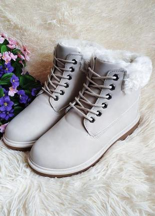 ♠️ зимние ботинки на тракторной подошве, утепленные мехом ♠️