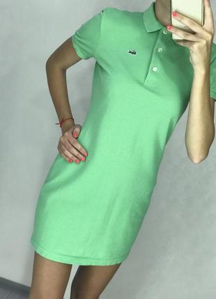 Платье lacoste оригинал зеленого цвета