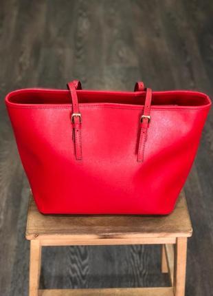Червона сумка - натуральна шкіра / красная сумка - натуральная кожа
