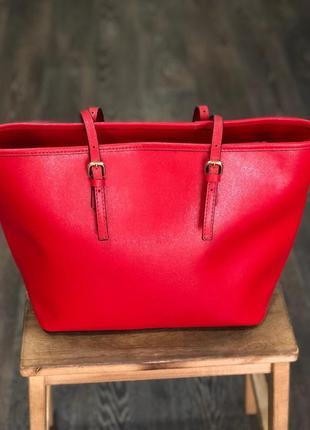 Червона сумка - натуральна шкіра / красная сумка - натуральная кожа2 фото