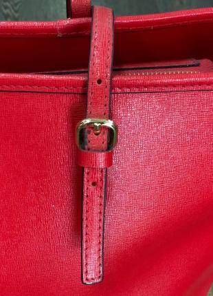 Червона сумка - натуральна шкіра / красная сумка - натуральная кожа4 фото