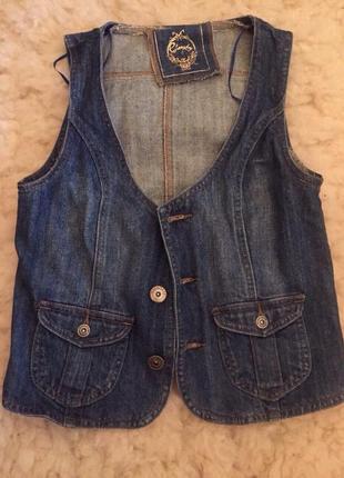 Стильная джинсовая жилетка!