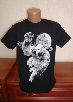 Футболка для мальчика горила рисунок светится в темноте