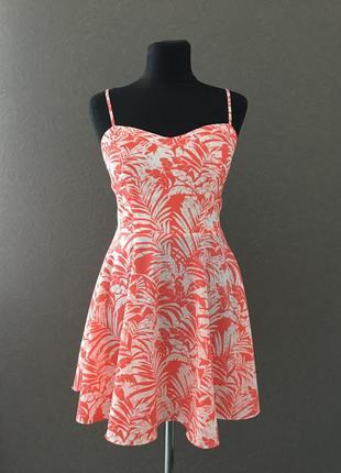 Супер модный сарафан с интересной открытой спинкой, пышная юбка, на бретелях