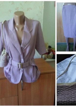 Летний винтажный костюм +сумочка новая италия