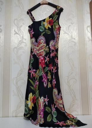 Шифоновое платье ассимметрия