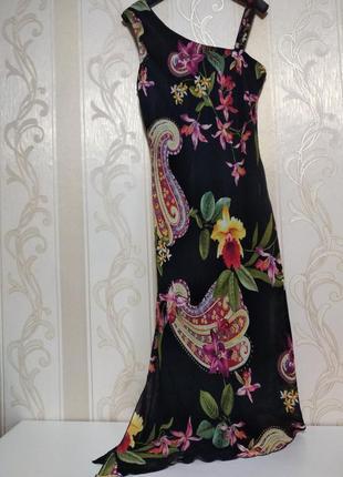 Шифоновое платье ассимметрия2 фото