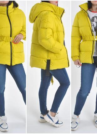 Зимняя коллекция укороченных ярких курток. тинсулейт, наличие цветов