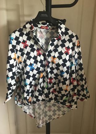 Хлопковая рубашка-блузка