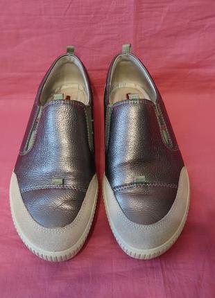 Фирменные кожаные туфли ecco (оригинал) - 39 размер