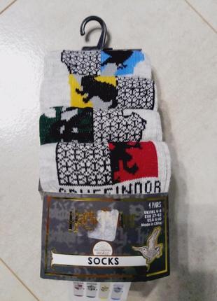 Комплект носков гарри поттер, 4 пары упаковка
