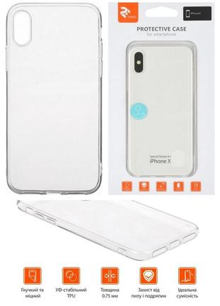 New! прозрачный чехол-накладка tpu для apple iphone x/xs (термополиуретан)
