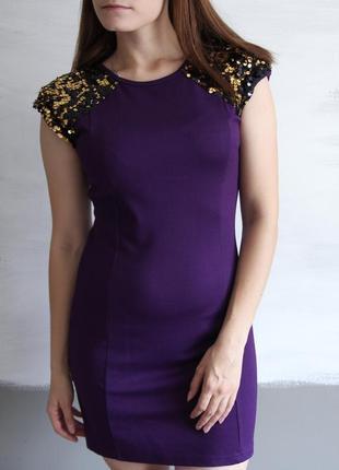 Распродажа! яркое платье мини с пайетками rare