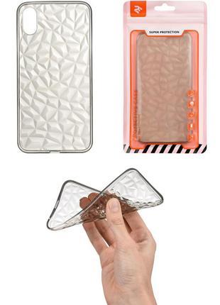 New! бриллиантовый прозрачный коричневый чехол-накладка для apple iphone x/xs diamond