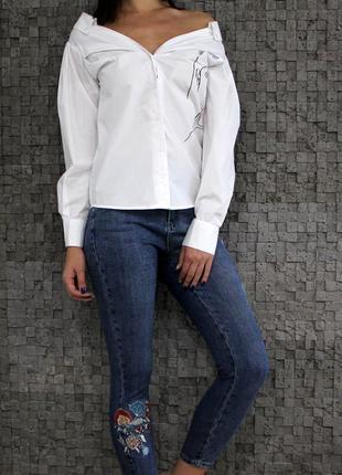 Стильная рубашка из натуральной ткани
