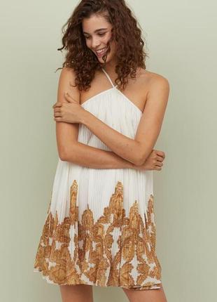 Невероятное летнее платье h&m плиссе